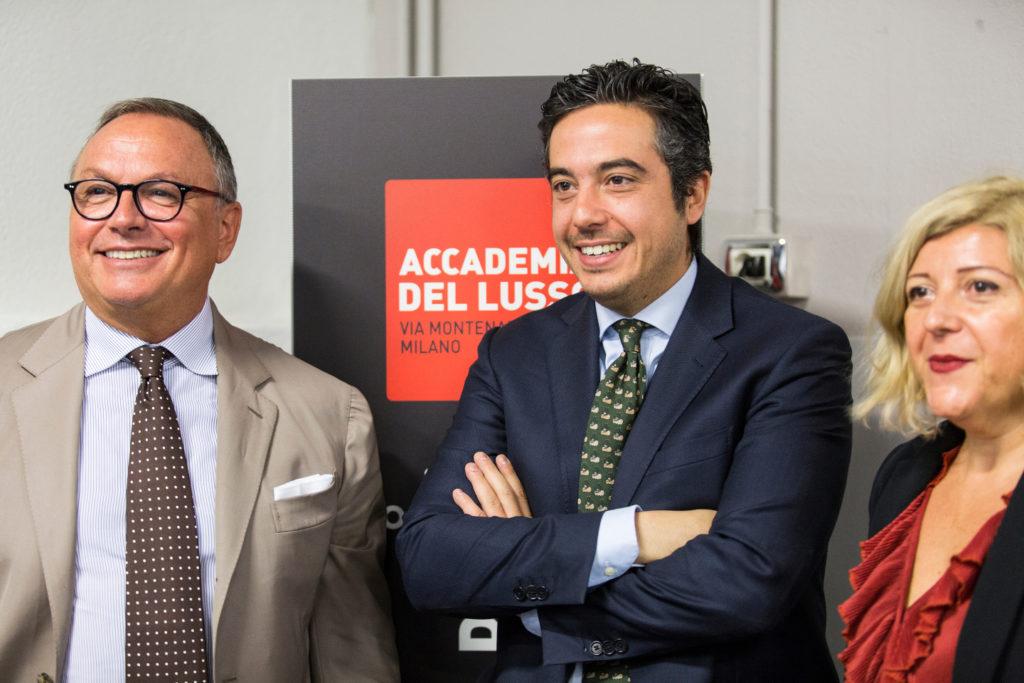 relatori da sx Fabio Gnocchi Ad Aspesi, Pietro Polidori Ceo ADLM, Barbara Sordi, Responsabile Didattica ADLM-1